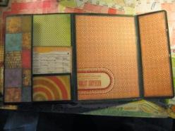 The inside of the folder